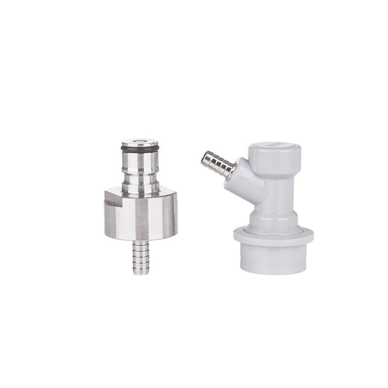 Stainless carbonator Cap & Corney Corny cornelius keg - Gas Ball Lock Disconnect - 1/4Barb