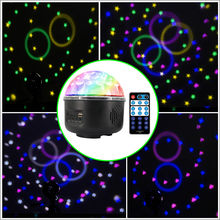 Remote Control disco light Crystal Magic Ball 10W 6 LED Stage Light Party disco lamp DJ Club KTV disco light(China)