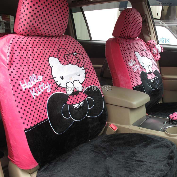 1Rose Hello Kitty UNIVERSAL Car Seat Covers Front Cover 4 Seasons - Shenzhen Zhijutianxia Technology Co.,Ltd store