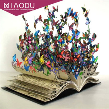 Miaodu 3d Diy Diamond Painting Cross Stitch Diamond Embroidery Abstract Book Study Decoration Gift Resin Pasted Diamond Patterns embroidery