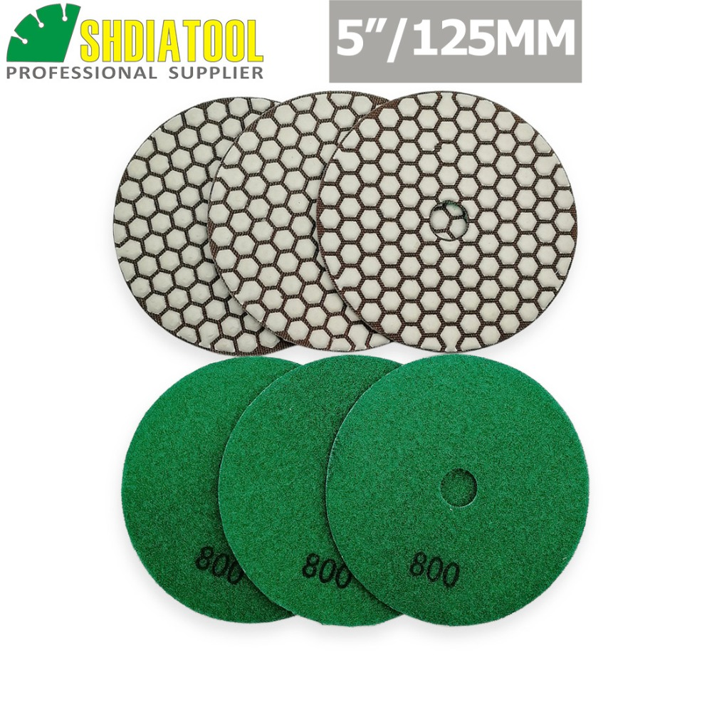 """5/"""" wet polishing pads Granite, marble and other hard stones 200 grit"""