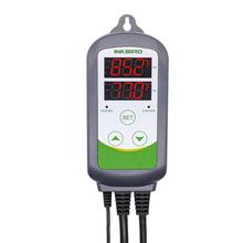 Nowy Inkbird ITC-308 regulator temperatury ogrzewania i chłodzenia z podwójnym przekaźnikiem Carboy fermentor Temp Terrarium szklarniowego Kontroli tanie tanio Gospodarstwa domowego Stojąc i Wall Hanging 70 ° C-99 ° C 2 0-3 9 Cali DIGITAL Brak -50~99 C -58~210 F Temperature Accuracy +-1C (-50 ~ 70C) +-1F (-50 ~ 160 F)