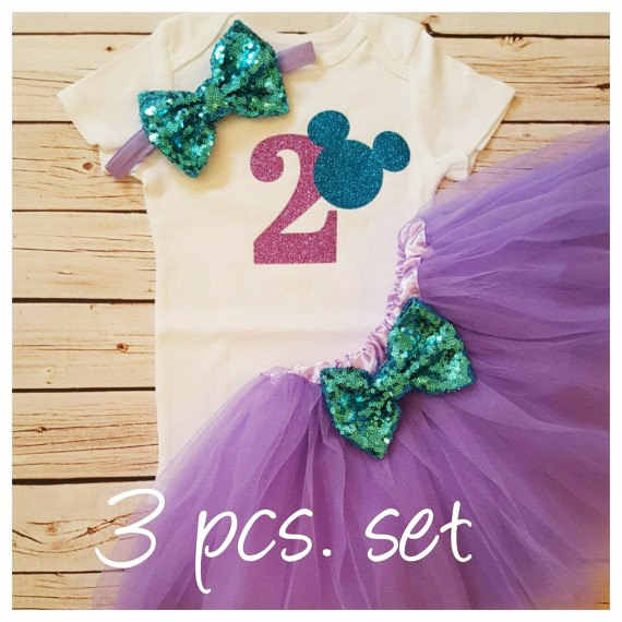 Personalize Minnies Baby Shower 1st 2nd Birthday Bodysuit Onepiece Shirt Tutu Dress Romper Outfit Sets Party
