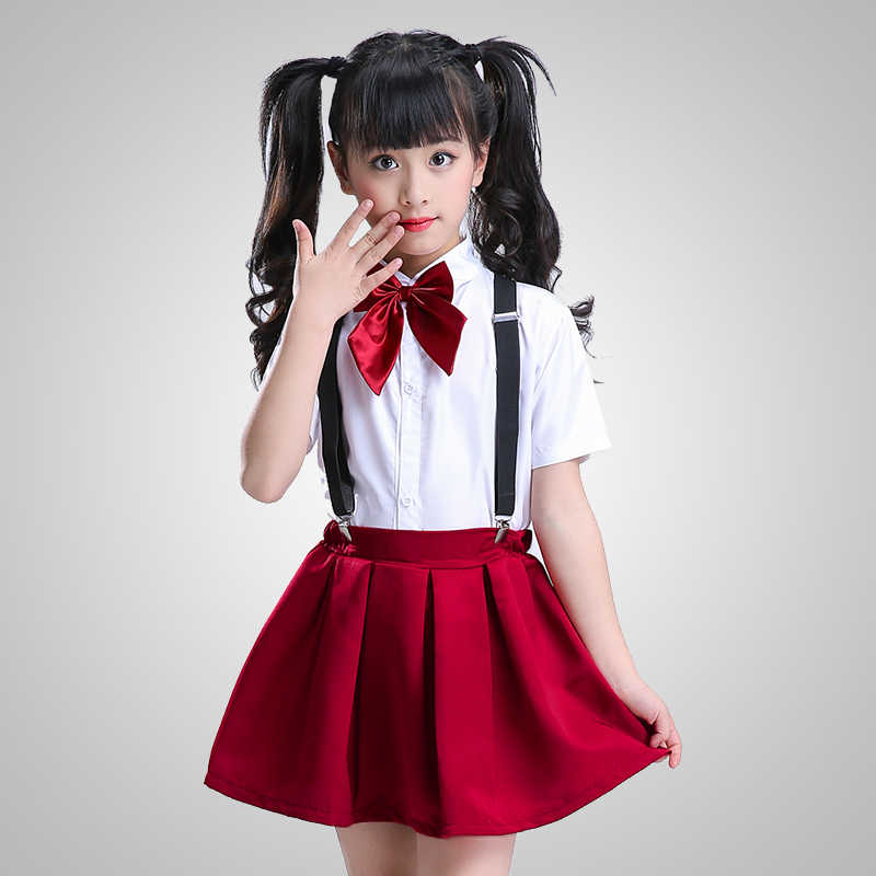 Children's schoolchildren chorus costumes dance performance clothing boys and girls bib pants school uniform uniforms
