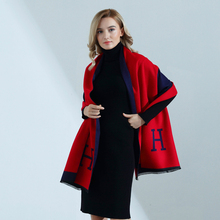Women Scarf Winter Autumn Women Scarves Wrap Shawl Thick Women's Scarf Warm Cotton Cashmere Wool Blended Knit Brushed Scarf learn to knit scarf kit