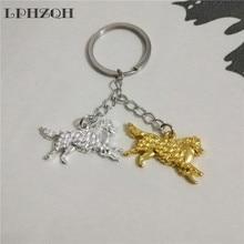 LPHZQH fashion Boho Australian Shepherd dog car key chain women handbag pendant charm accessories Key ring jewelery steampunk