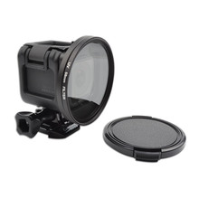 Accessories UV Lens Filter 58mm + Adapter Ring Cap Lente Protector Filtro Filtros for Gopro Hero 4 Session