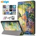 華為 Mediapad T3 10 AGS-L09 AGS-L03 9.6 インチのためのカバータブレット再生パッド 2 9.6 スリムフリップ PU ケース + フィルム + ペン