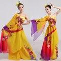 Disfraces Venda Direta hanfu Chineses Trajes de Dança Clássica Yangko Desgaste E Dança Folclórica Vestido 2016 Roupa Nova