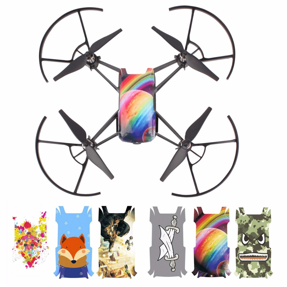 3PCS Drone Sticker Waterproof PVC Stickers Drone Body Decals Skin For DJI Tello Drone Spare Parts Accessories