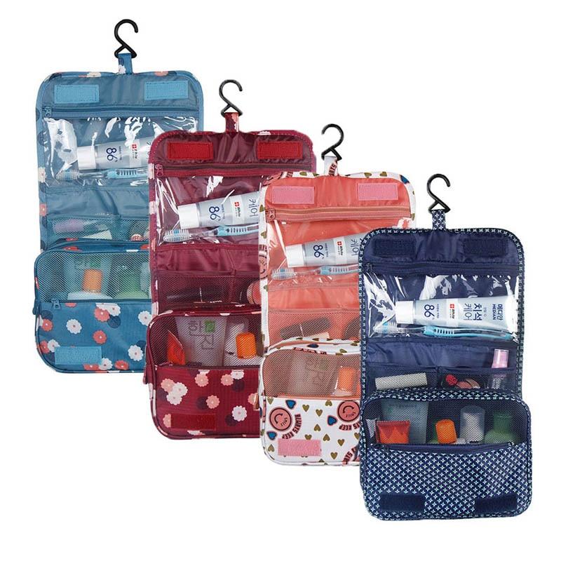 Oxford Multi-function Storage Hang Make Up Luggage Bag Women Travel Large Capacity Cosmetic Bags