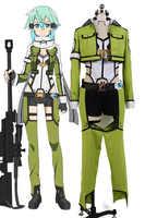 Sword Art Online ALfheim Online Sinon Asada, disfraz de Shino para mujer y hombre, conjunto completo