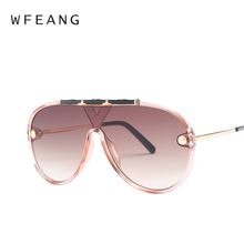 WFEANG Luxury Sunglasses Woman Frame Brand Designer Vintage Shades Big Male Sun Glasses Fashion brand uv400