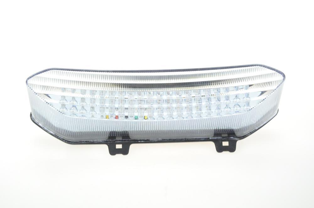 Светодиодный Встроенный задний фонарь сигнала поворота для YAMAHA R1 02-03 - Цвет: Прозрачный