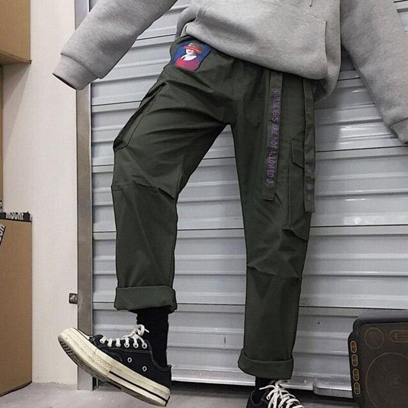 Pink Cargo Sweatpants Pants For Women Black Belt Streetwear Patchwork Women's Trousers 2019 Autumn Sports Plus Size Pants Female