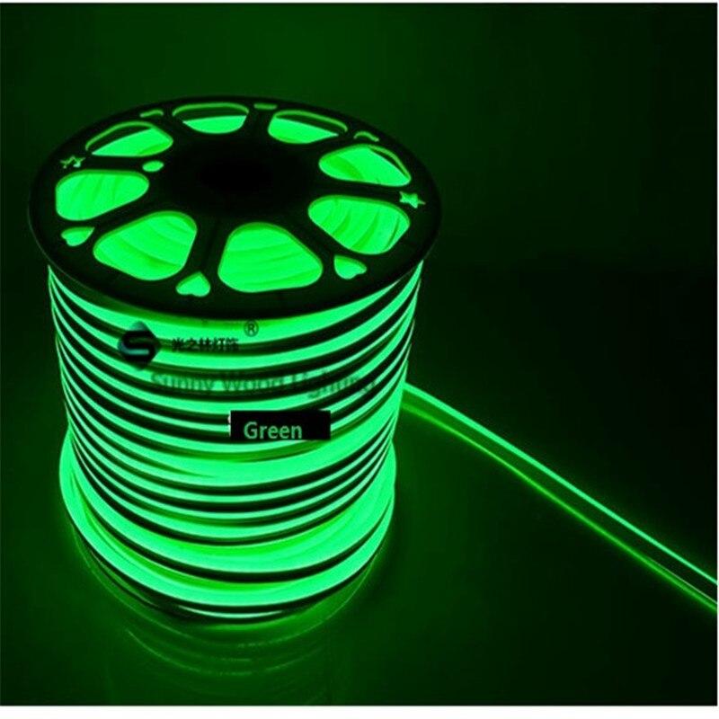 5 15 m dhl livre 8mm de largura mini neon flex 2835 lateral dupla iluminacao led