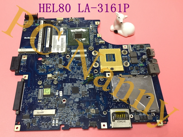 FOR LENOVO 3000 SERIES N100 LAPTOP MOTHERBOARD HEL80 LA-3161P s478 ddr2 945GM + Free CPU Grade A