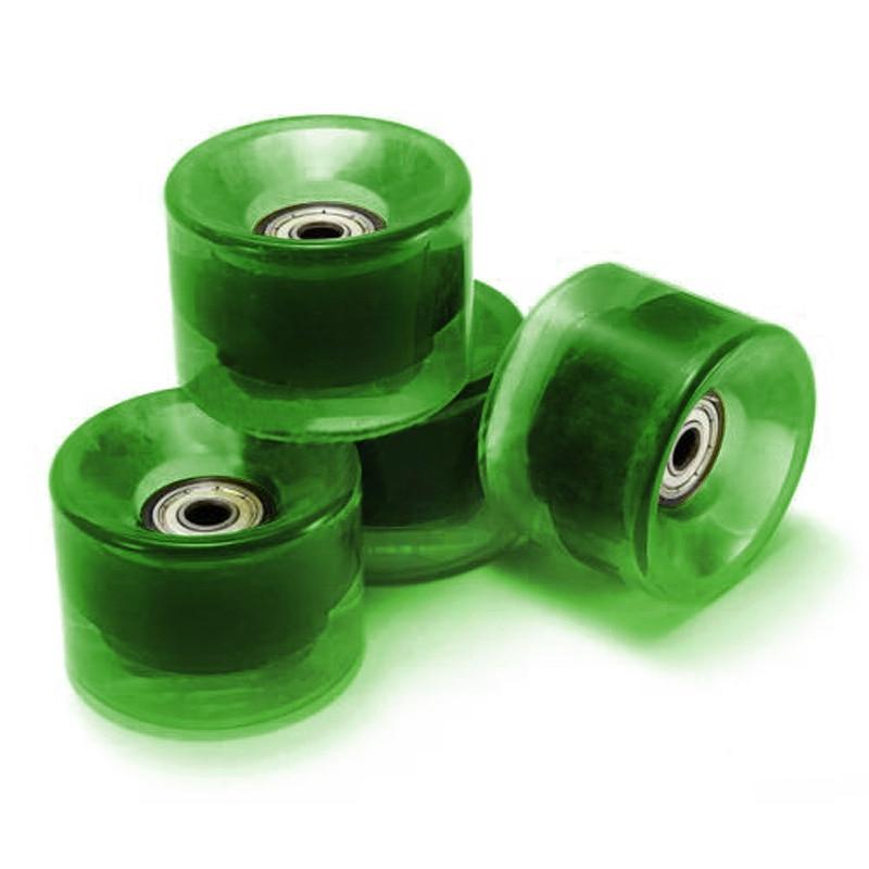 Prix pour Ensemble De 4 Planche À Roulettes Roues 6 cm Diamètre et 4.5 cm Largeur Pour Penny clair vert