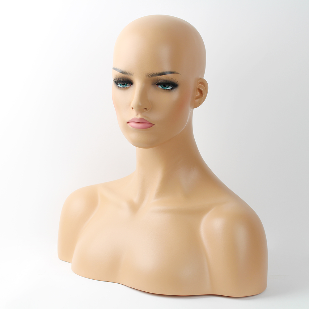 Fiberglass Girl Mannequin Head Bust Sale For Wigs Jewelry And Hat Display