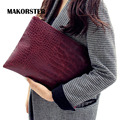 MAKORSTER Fashion women day Clutch Bags for women evening clutch Bag Alligator pattern European and American Style handbag YY045
