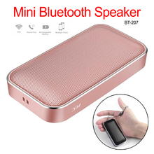 Portable Wireless Bluetooth Speaker Mini Small Metal Music Sound Box Handsfree Bass Subwoofer for All Smart Phone