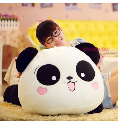 31 inch panda plush toy lying panda doll throw pillow gift w6836 40cm super cute plush toy panda doll pets panda panda pillow feather cotton as a gift to the children and friends
