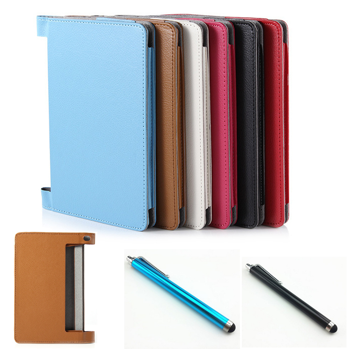 NEW Luxury PU leather case cover For lenovo yoga tablet 2 8.0 830 830f 830L Tablet cover case + Stylus