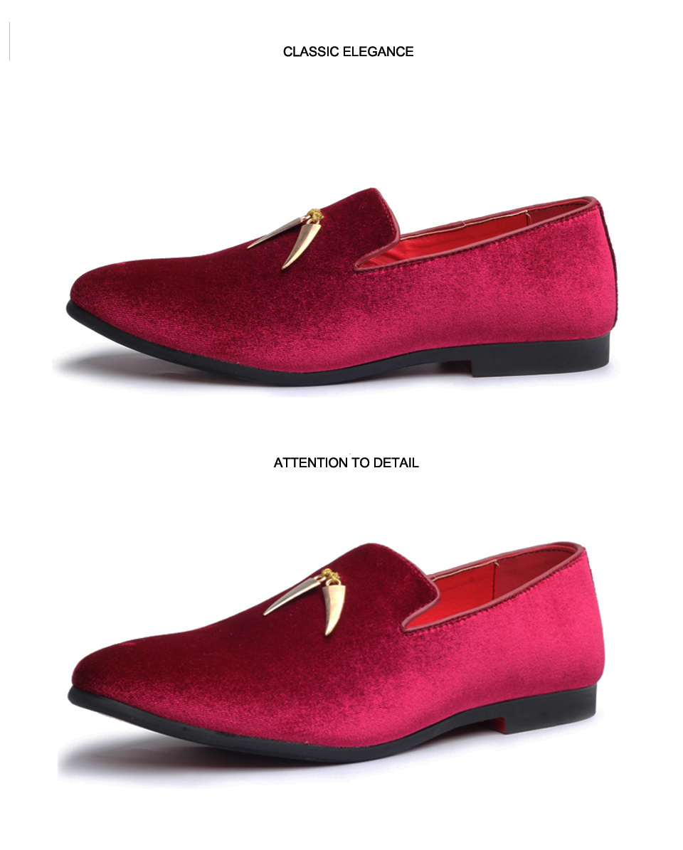Oudiniao sapatos masculinos tamanho grande deslizamento em