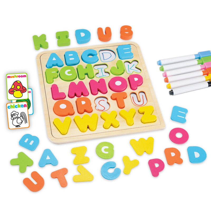 Simingyou Learning Education Letter And Number Wooden Puzzle Drawing Board Toys For Children B40-64 Drop Shipping learning carpets cpr 570 number grid rug