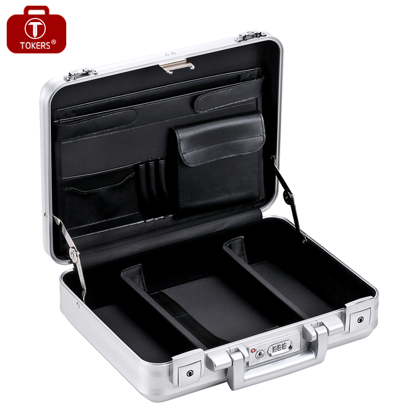 Pure Aluminum Briefcase Tools Laptop Men Women Lawyer Business Office File  Storage Box Precision Instrument Custom  In Briefcases From Luggage U0026 Bags  On ...