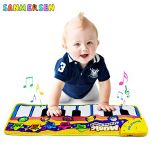 Baby Kids Musical Mat Music Carpets Piano Crawling Mats Touch Toys Keyboard Educational Toy Christmas Gift for Kids Boys Girls 110x36cm musical mat keyboard music carpets piano play mat touch keys melody instrument educational toy gift for boys