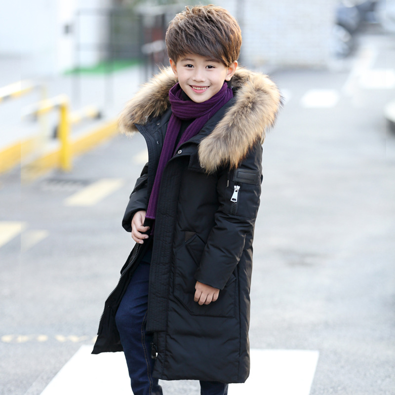 The Children Down In The Long Winter Wear Boy Thick Coat titan titan w780 9798bm02