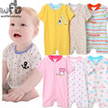 Retail 3pcs/pack 0-24months short-Sleeved Baby Infant romper cartoon for boys girls jumpsuits Clothing clothes