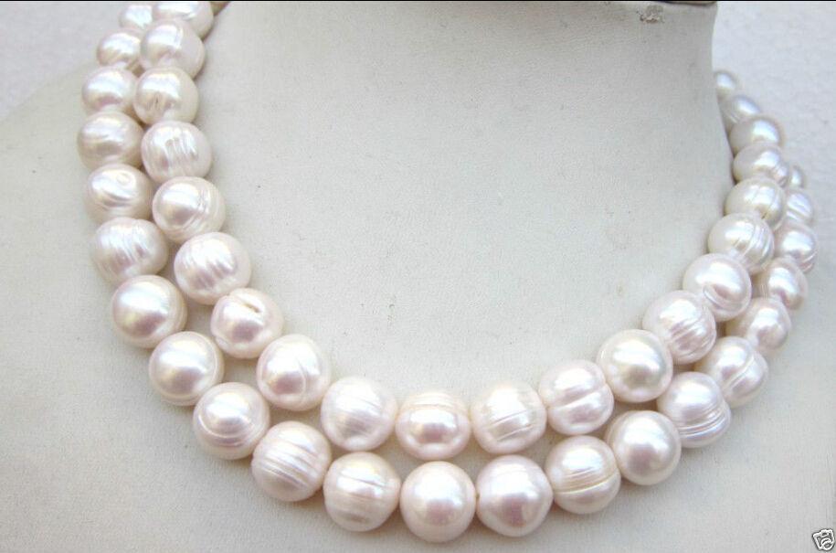 11-12mm blanc ivoire perles d/'eau douce ronde de perles classe b
