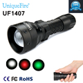 Hot Selling New High-Quality UF-1407 Flashlight Torch XRE Green / Red /White LED Light Portable 3 Mode For Outdoor Free Ship