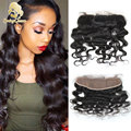 13x4 Top Lace Frontal Closure Brazilian Loose Wave Soft Lace Frontals With Baby Hair Really Virgin Human Hair Frontal Closures