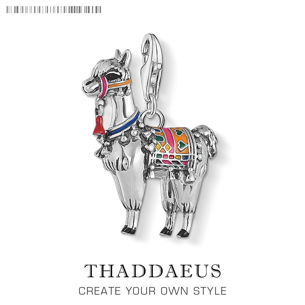 Alpaca Llama Charms Pendant 925 Sterling Silver Pendants Fashion Jewelry Cute Gift For Thomas Jewelry Making DIY & Women & Men