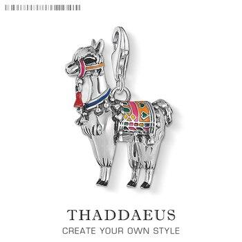 Alpaca Llama encantos colgante de plata de ley 925 colgantes joyería de moda lindo regalo para joyería Thomas DIY y las mujeres y los hombres