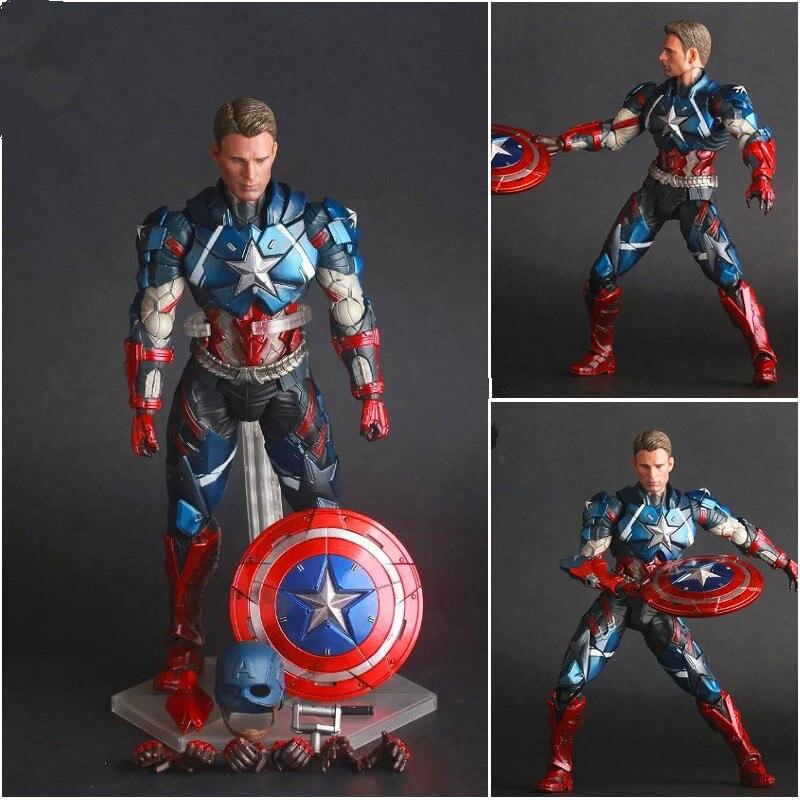 Avengers:Infinity War Captain America Super Soldier Steve Rogers PVC Action Figure Collectible Model Toy L2086
