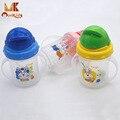 Monkids bebê crianças palha copo bebendo garrafa de alimentação do bebê recém-nascido mamadeira sippy copos com alças pp plástico cereal de arroz