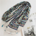 2017 Spring High Quality Soft Women Cotton Ethnic style blue sea beach sand tour soft thin section scarf sunscreen scarf shawl