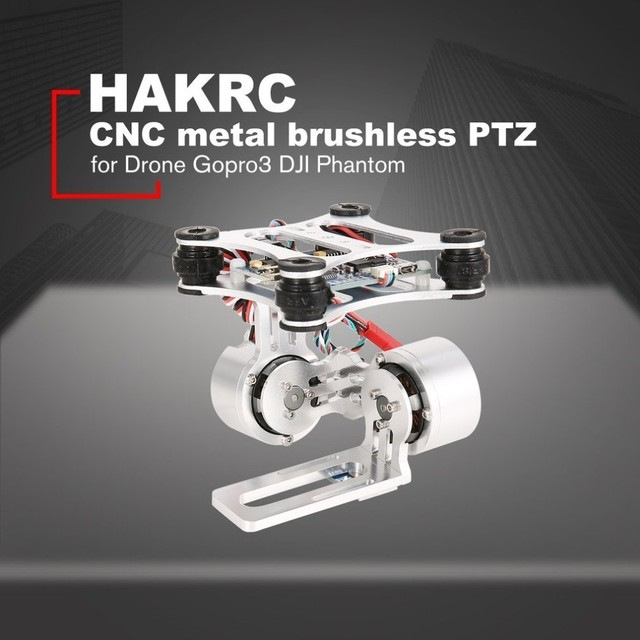 HAKRC 2 Axis CNC Metal Brushless BGC2 2 PTZ Control Panel Gimbal Stabilizer for RC