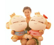 a pair of big monkey toys lovely happy monkey toys plush lovers monkey yoyo and cici gift doll about 65cm