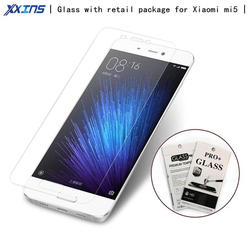 Pacote de varejo de Vidro Temperado Para Xiaomi mi5 5 Proteger a Tela do Telefone Móvel Protetor de tela Do Telefone Móvel filme 5.15 polegada tamanho telefone