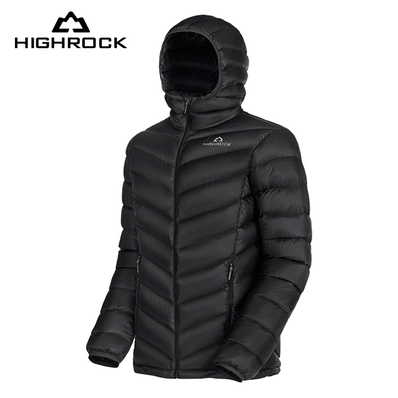 HIGHROCK 90% White Duck Down Jackets 600FP Men Women Thermal Warm Hooded Coat Winter Outdoor Camping Sking Lightweight Wrap korff двухфазное средство для снятия макияжа cleansing biphasic solution 150 мл