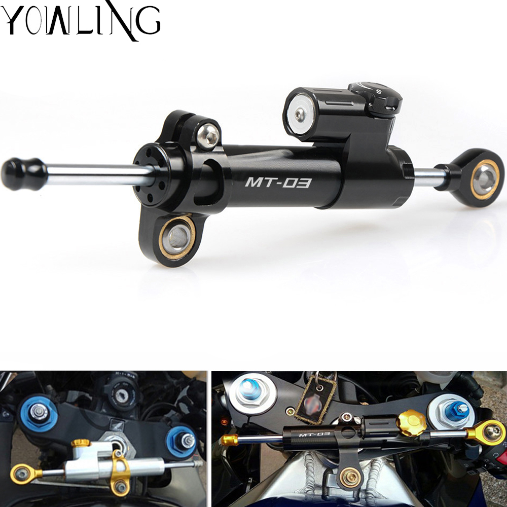 For YAMAHA MT03 MT 03 MT 03 2013 2014 2015 2016 Motorcycle CNC Damper Steering StabilizerLinear Reversed Safety Control-in Covers & Ornamental Mouldings from Automobiles & Motorcycles    1