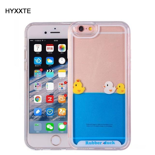Ogromny HYXXTE Cieczy Etui do Apple iPhone 6 6 S 7 Plus Jasne śliczne ZE78