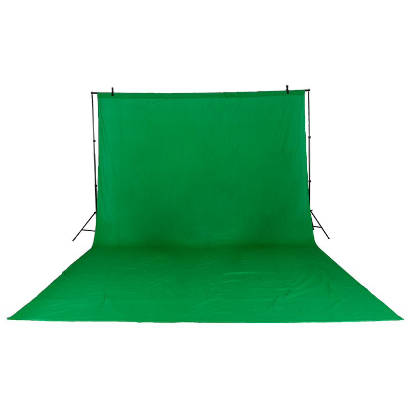 NOUVEAU Matériel Photographique 3 m x 6 m Coton Chromakey Écran Vert Muslin Backdrop avec 2 m x 3 m fond et deux clips