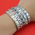 1 Pcs  New Fashion Women's Jewelry 316L Stainless Steel Heart Tai Chi Bracelet Bangle 2017 For Best Friend Wife's Gift