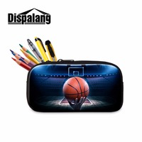 Dispalang Basket Ball Kids High Capacity Pen Pouch Male School Office Supplies Boys Student Zippered Pencil